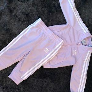 Infant girls Adidas tracksuit